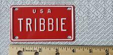 Vintage Bike Bicycle Vanity License Plate TRIBBIE