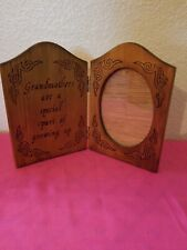 """Vintage 1989 House Of Lloyd Double Wood 4X6 Frame & """"Grandmothers Are Special"""""""