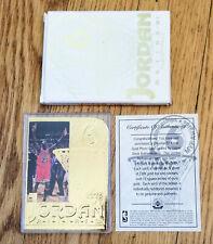 New listing 1999 Upper Deck 22kt Gold Photo Card Michael Jordan's Retirement Numbered 3175