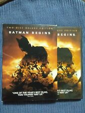 Batman Begins (Two-Disc Deluxe Edition) Includes Book! Excellent!