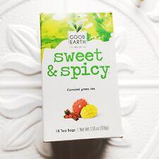 1 Good Earth Sweet & Spicy Green Tea 18 Ct Tea Bags EXP 8/21 READ