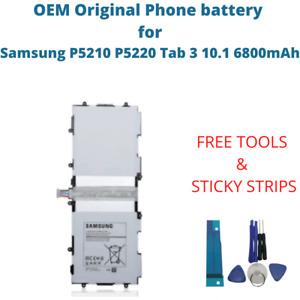OEM Original Battery For Samsung P5210 P5220 Tab 3 10.1 6800mAh T4500E Akku