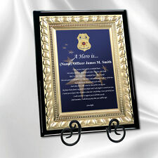 Law Enforcement Police Sheriff Gift Plaque Love Poem Officer Policeman Deputy