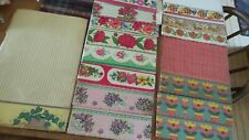 Vintage SHELF PAPER REMNANTS Decorative Edges, 13 Different Patterns!