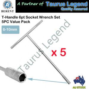 6mm 7mm 8mm 9mm 10mm 5Pcs Hex Socket T Bar Handle Wrench Remover Installer Set