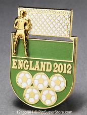 OLYMPIC PINS 2012 LONDON ENGLAND SOCCER FOOTBALL SLIDER SLIDING GOALIE (GOLD)