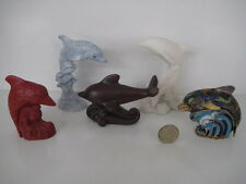 5 X VINTAGE LENOX TREASURY OF DOLPHINS COLLECTION VARIOUS MATERIALS FIGURINES