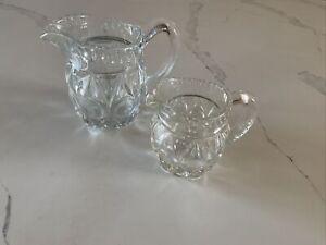 glass Creamer / Milk Jug Set