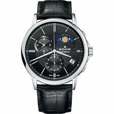 Edox 01651 3 NIN Men's Les Bemonts Black Quartz Watch