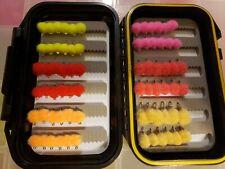 72 Glow Bug Assortment with Carrying Case - Steelhead, Salmon & Dolly Varden