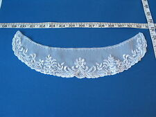 4208 APPLIQUES COLLARS YOKES Embroidered White Rayon Floral Shiffli Lace 12 Pcs