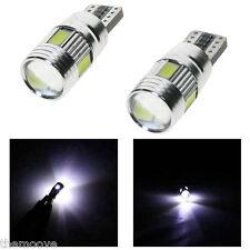 2x Canbus T10 6 SMD White LED Lights Bulbs W5W 501 Audi A3 A4 A5 A6 A8 B8