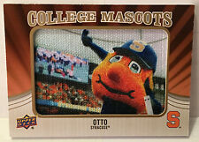 2013 UD Upper Deck College Mascots Manu SYRACUSE ORANGE Otto Patch #CM-84