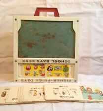 Vintage Fisher Price Toys School Days Desk spelling alphabet cards educational