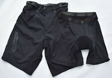 Zoic Ether Black Bike Shorts + Removable Liner Cycling Shorts Mens M
