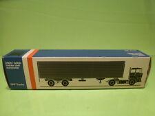 LION CAR 59 DAF TRUCKS 2800-3300 EUROTRAIL - 1:50 GOOD - * ONLY EMPTY BOX * (11)