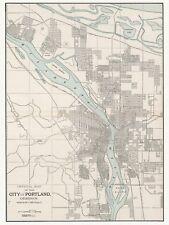 Old Vintage Decorative Map of Portland Cram ca. 1901