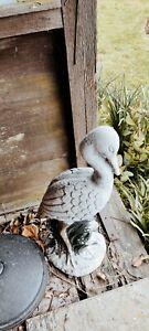 concrete heron bird garden ornament