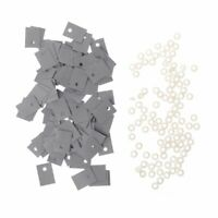 100PCS Plastic Insulation Washer Transistor and Silicone Pads Insulator Set QY