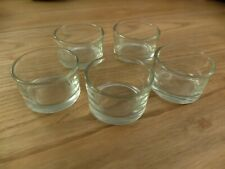 5cl 24X BEAUTIFUL Tea light candle glass vase small fish bowl COBALT 6X5.5cm