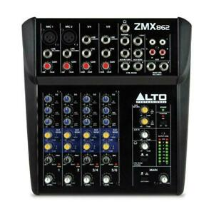 Alto Professional Zephyr ZMX862 6-Channel Compact Studio Mixer Desk Home Band