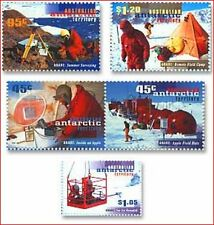 AAT858 Research stations 5 stamps