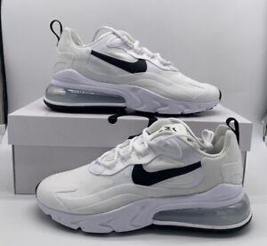 Nike Air Max 270 React White Black Running Shoe (CI3899-101) Womens Size