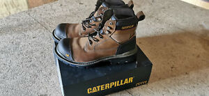 Caterpillar Mens Gravel 6 Inch Leather Work Safety Boots Brown - Gr. 46