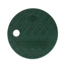 """Dura Round Sprinkler Valve Box Replacement Lids Size 6"""" Color Green"""