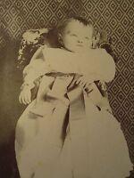 ANTIQUE POST MORTEM ANGEL BABY BOY NEW LONDON CT SCHOLFIELD CABINET CARD PHOTO