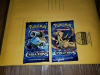 2 XY EVOLUTIONS Booster Pack Lot - Factory Sealed Pokemon Cards x2 Booster Packs