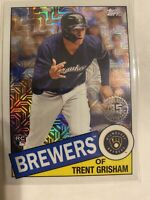 2020 Topps Trent Grisham RC Silver Pack Mojo Refractor Milwaukee Brewers 85c-50