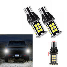 2Pcs T15 3030 24SMD 5W 1600 LM White LED Light Blubs For Car Backup Reverse Lamp