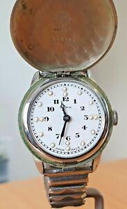 RARE! Vintage Cyma white Braille dial Swiss 15 jewel manual watch