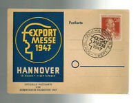 1947 Export Messe Trade Fair Hannover Germany Multi Franking Advertising Cover