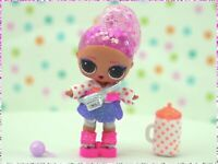 LOL Surprise Doll Glitter Globe Winter Disco Figure 8 Ice Skater Color Changer!