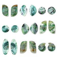 Natural Aqua Pherese Semi Precious Loose Gemstone Pair Free-Form Free Shipping