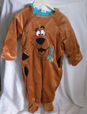 Scooby-Doo Costume 24 Months New Halloween One Piece Hooded Zipper Sides Unisex
