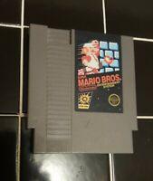 Super Mario Bros Nintendo NES Video Game Cart 5 Screw Authentic Tested Works
