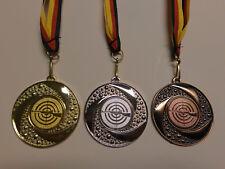 Bogenschießen Schützen Pokal Medaillen Deutschland-Band Turnier Emblem Schütze Medaillen