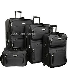 Travel Select Gray Amsterdam 4-Piece Lightweight Rolling Luggage Suitcase Set