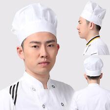 Beliebte Elastische weiß Kochmütze Baker BBQ Küche Kochen Hat Kostüm Cap MI