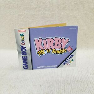 ⭐Kirby Tilt 'n' Tumble Nintendo Game Boy Color GBC Game Manual ONLY No Game⭐👀