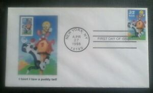 First day of issue, 1998 Honoring Tweety and Sylvester, Scott # 3204a