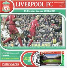 Liverpool 2004-05 Fulham (Sami Hyypia) Football Stamp Victory Card #422
