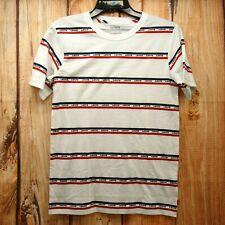 New Levi's Hip Kids Sz L 12-13 Yrs White Short Sleeve Crew Neck Shirt Red Logo