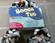 Booda Tug 50805 Multicolor 3-Knot Rope Tug Dog Chew Toy  , FREE SHIPPING