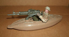 "1/18 Scale Army Kayak Machine Gun Boat Plastic Model + 3.75"" Action Figure Team"