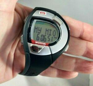 MIO Motiva Heart Rate Monitor Watch, Black/Gray, New Battery