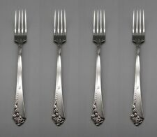 Oneida Stainless Flatware DAMASK ROSE Dinner Forks - SET OF FOUR * CUBE